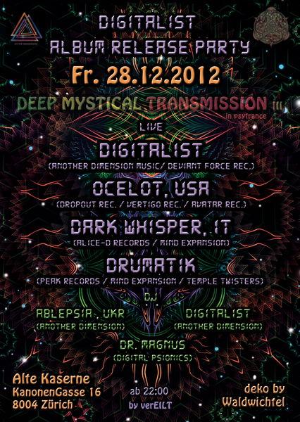 Deep Mystical Transmission III - ALBUM RELEASE 28 Dec '12, 20:00