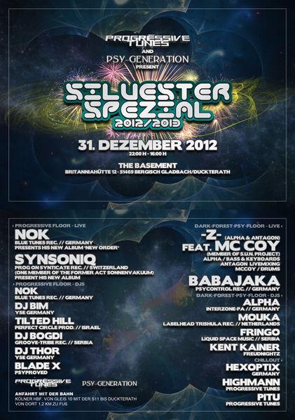 Party Flyer Progressive Tunes feat Silvester Spezial 2012/13 31 Dec '12, 21:00