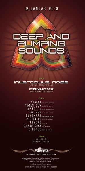 Party Flyer DEEP & PUMPING SOUNDS @ FABRIK 12 Jan '13, 23:00