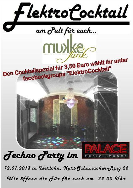 Party Flyer ElektroCocktail 12 Jan '13, 22:00