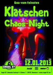 Party Flyer Klatschen-Chaos-Night 12 Jan '13, 23:00