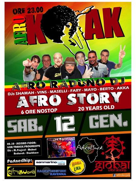 Party Flyer < AFRO-GOA RADUNO 2013 > 12 Jan '13, 23:30