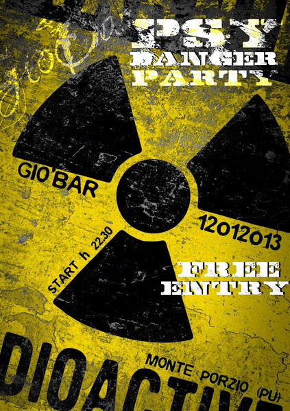 Party Flyer Psy Danger Party @ GIO' BAR // Free Party // + AFTER 12 Jan '13, 22:30