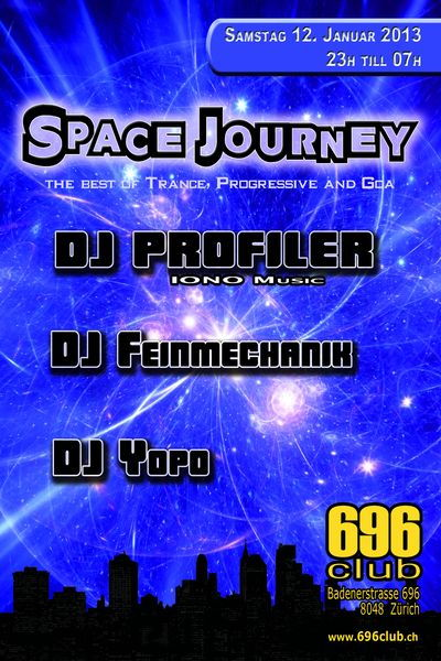 Party Flyer Space Journey 12 Jan '13, 23:00