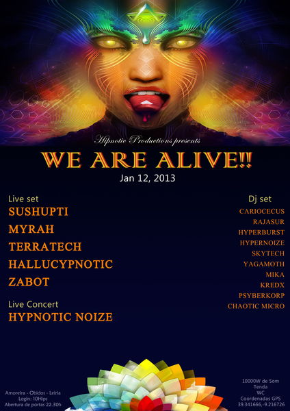 Party Flyer WE ARE ALIVE!! 12 Jan '13, 23:00