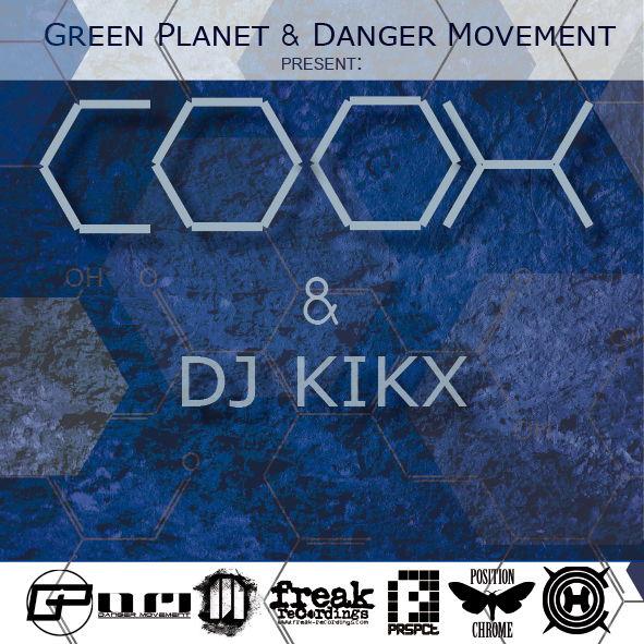 Party Flyer Green Planet & Danger Movement present: COOH & DJ Kikx 2 Mar '13, 23:00