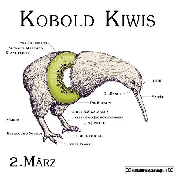 Party Flyer Kobold Kiwis 2 Mar '13, 23:00