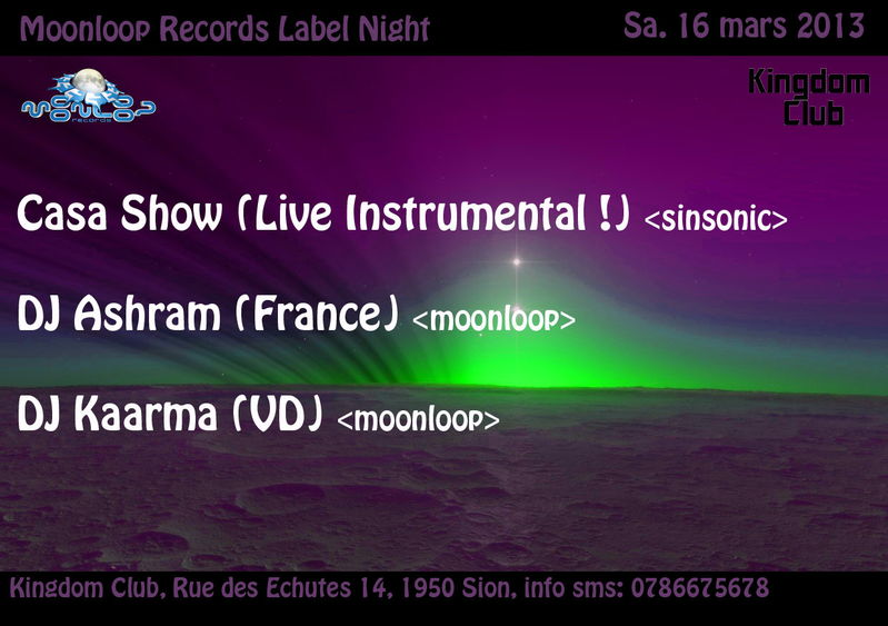 Party Flyer Moonloop Records Label Party 16 Mar '13, 21:30