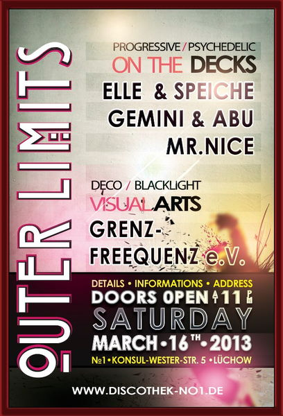 Party Flyer .: OUTER LIMITS :. 16 Mar '13, 23:00