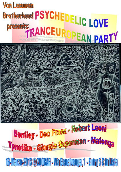 Party Flyer TRANCEUROPEAN Psychedelic LOVE PARTY - LIONS BROTHERHOOD @ZOOBAR 16 Mar '13, 23:00