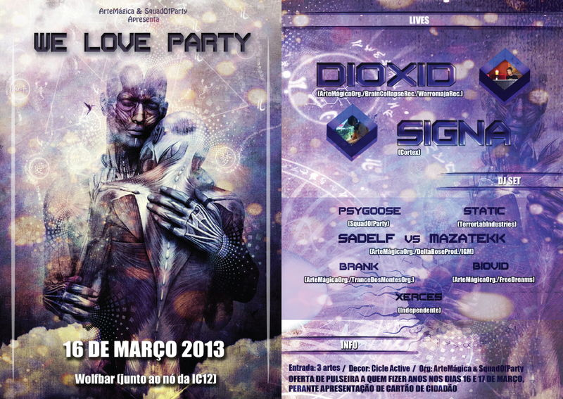 Party Flyer WE LOVE PARTY! 16 Mar '13, 23:30