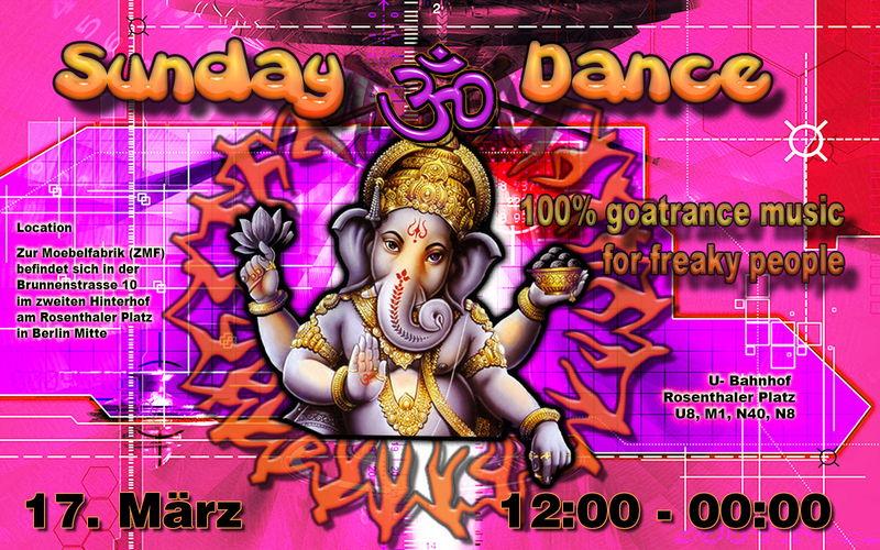 Party Flyer Sunday Dance ~Spontaneously & Freaky~ 17 Mar '13, 12:00