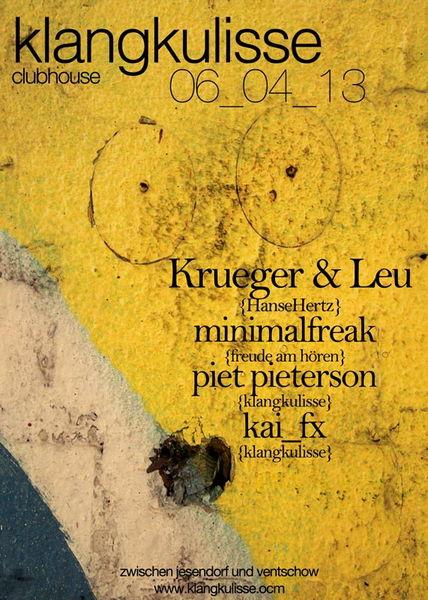Party Flyer HanseHertz inne Klangkulisse 6 Apr '13, 22:00