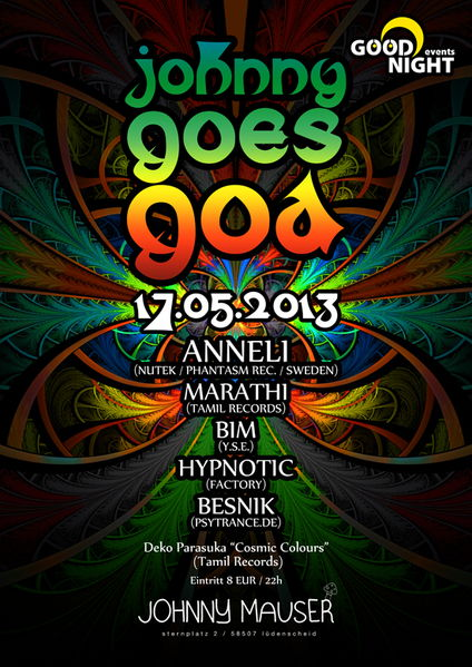 Johnny Goes Goa 17 May '13, 22:00
