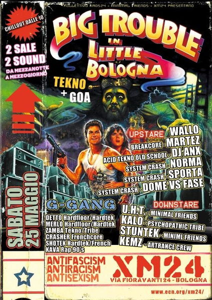Party Flyer BIG TROUBLE in LITTLE BOLOGNA 2sale 2sound TEKNO+GOA 25 May '13, 23:30