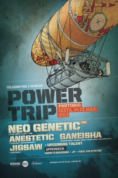 Party Flyer Power Trip 1st Anniversary@ Porto Rio 25 May '13, 23:30