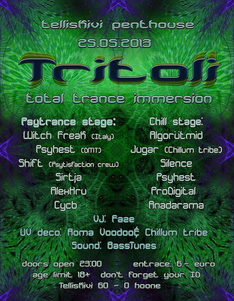 Party Flyer TRITOLI 25 May '13, 23:00