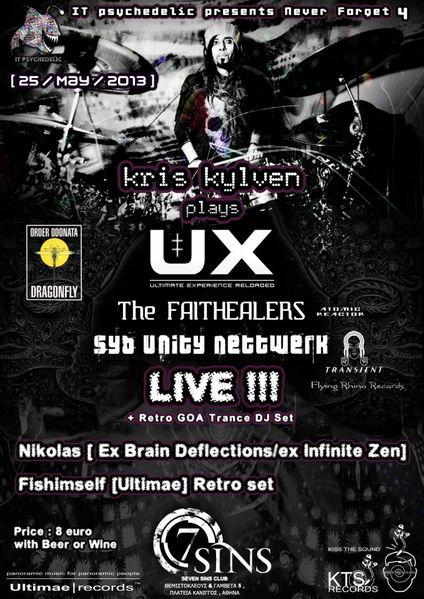 Party Flyer UX [ Kris Kylven ] LIVE and Nikolas [ x Brain Deflections , x Infinite Zen ] set 25 May '13, 23:30