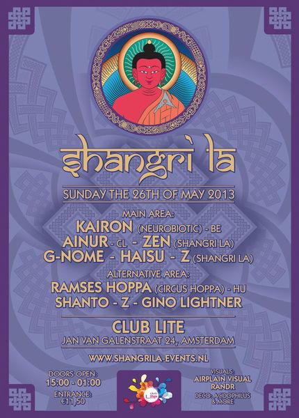 Party Flyer Shangri La TrancenDay 26 May '13, 15:00