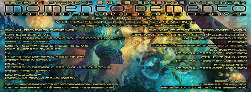 Party Flyer Ashkari Project & U.S.B Sessions presentan: MOMENTO DEMENTO FESTIVAL WARMUP 31 May '13, 23:30