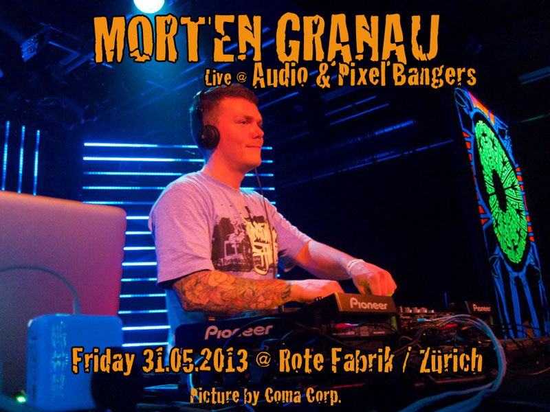 Party Flyer Audio & Pixel Bangers @ Rote Fabrik live: Osher & Morten Granau 31 May '13, 23:00