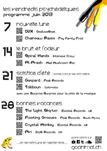 Party Flyer Les Vendredis Psychédéliques - 31 mai - Demain c'est le mois de joint 31 May '13, 22:00