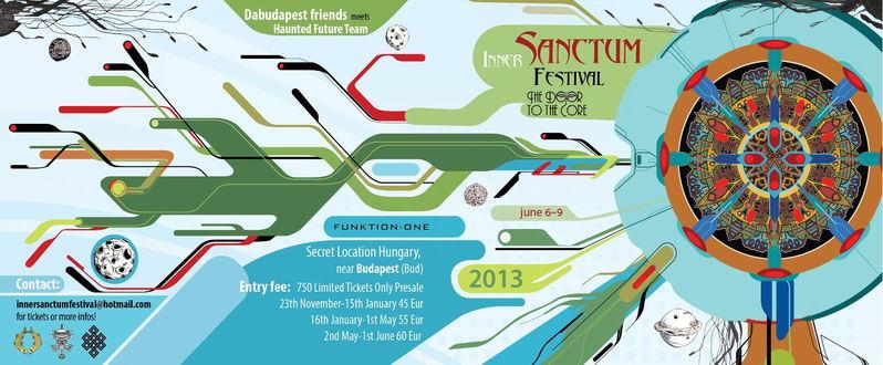 Party Flyer Inner Sanctum Festival: The Door to the Core 2013 6 Jun '13, 20:00