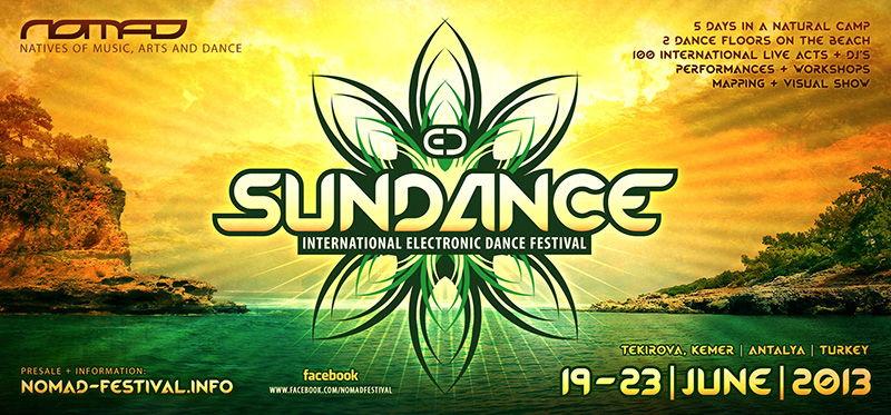 Party Flyer N.O.M.A.D. SUNDANCE FESTIVAL 2013 19 Jun '13, 18:00