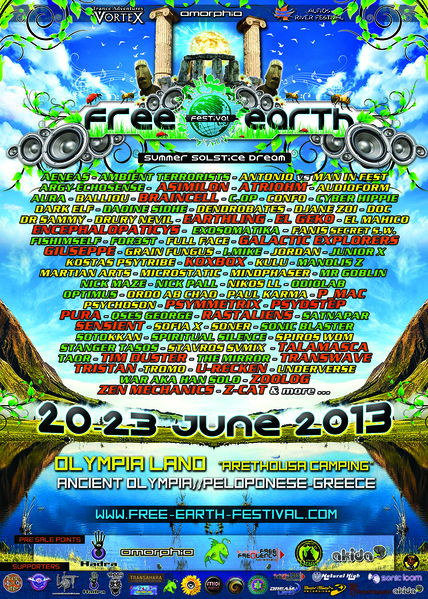 Party Flyer FREE EARTH FESTIVAL 20 Jun '13, 16:00