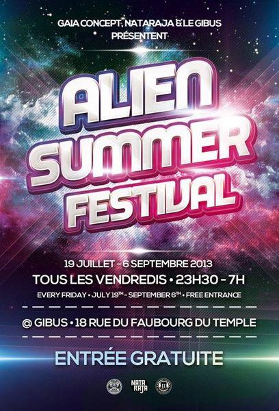 Party Flyer Alien Summer Festival 19 Jul '13, 23:00