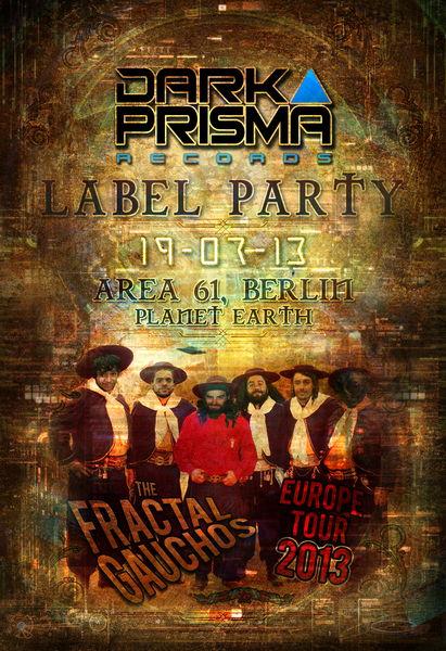 Party Flyer ● DARK PRISMA LABELNIGHT ● 19 Jul '13, 22:00
