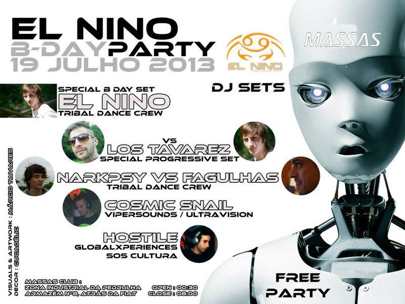 Party Flyer ☆ El Nino B Day Party ☆ 19 Jul '13, 23:30