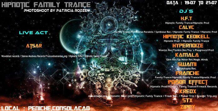 Party Flyer Hipnotic Famíly Trance 19 Jul '13, 22:00