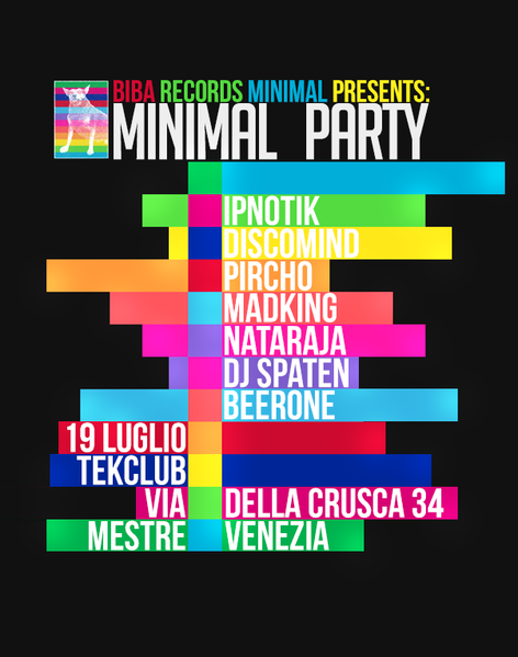 Party Flyer Minimal Goa Biba Party 19 Jul '13, 23:30