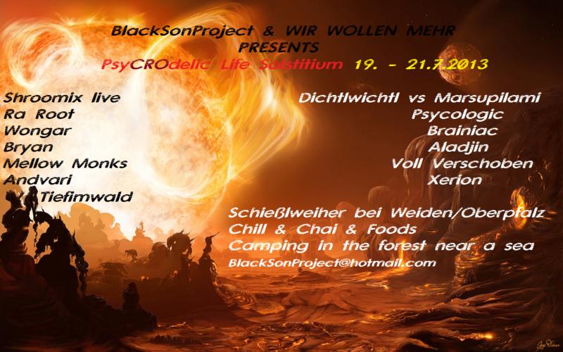 Party Flyer PsyCROdelic Life Solstitium 19 Jul '13, 22:00