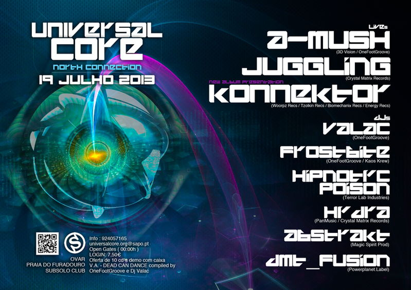 Party Flyer Universal Core North Connection 19 Jul '13, 23:30