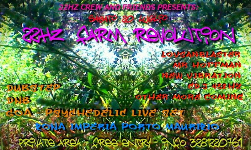 Party Flyer 22Hz Revolution 20 Jul '13, 23:00