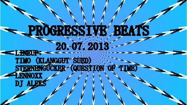 Party Flyer ★★★ Progressive Beats ★★★ 20 Jul '13, 22:00