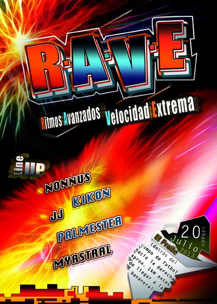 Party Flyer RAVE FULLMOON 20 Jul '13, 23:30