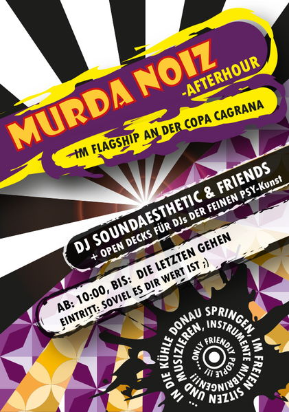 Party Flyer Psy - Afterhour - Murda Noiz - FLAGSHIP Copa Kagrana 21 Jul '13, 10:00