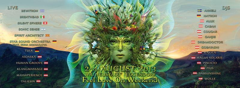 Party Flyer F.L.O.W. 2013 - Feel Love On Weekend (FLOW) 2 Aug '13, 22:00