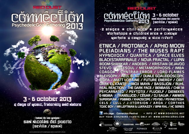 Party Flyer CONNECTION 2013 ●●•٠• Psychedelic GOA Gathering 3 Oct '13, 23:30