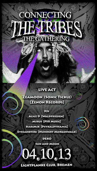Party Flyer Connecting The Tribes: The Gathering 4 Oct '13, 23:00