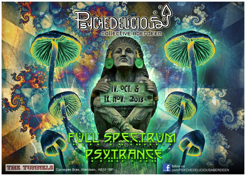 Party Flyer Psychedelicious October Pachanga 4 Oct '13, 23:00