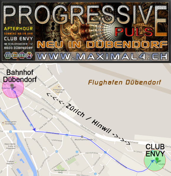 Party Flyer ॐ <<NEU IN DÜBENDORF>> Club ENVY (Ex. Limelite) ॐ PROGRESSIVE PULSE ॐ 6 Oct '13, 14:00
