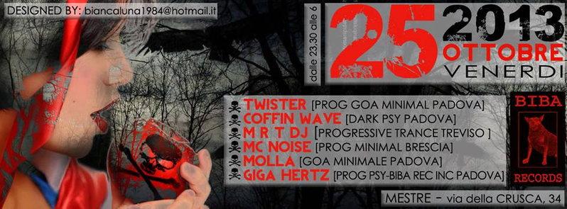Party Flyer DARK PROGRESSIVE GOA MINIMAL PARTY 25 Oct '13, 23:30