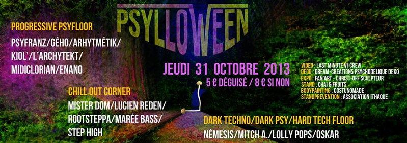 Party Flyer Psylloween 31 Oct '13, 21:00