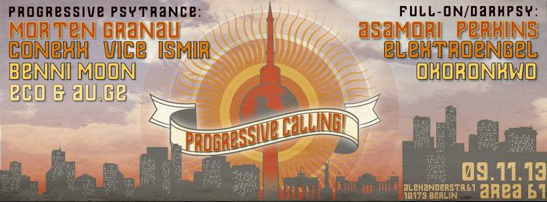 Party Flyer Progressive Calling 9 Nov '13, 23:00