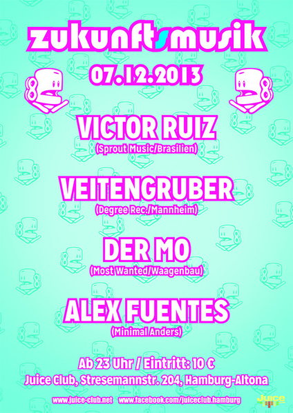 Party Flyer ZUKUNFTSMUSIK 7 Dec '13, 23:00