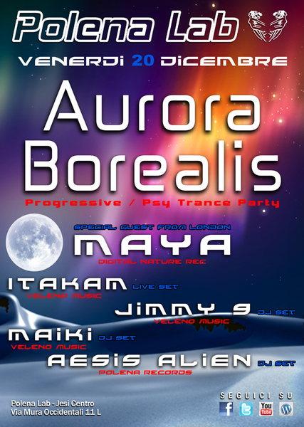 Party Flyer (¯(¯`'·.ॐ AURORA BOREALIS ॐ .·'´¯)¯) 20 Dec '13, 23:00